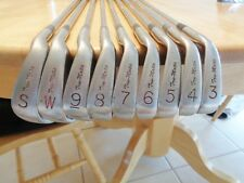 Right hand set of Arnold Palmer Trumatic cavity back irons 3-Sw