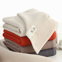Waffle Weave 100% Cotton Bath Towel Bathroom Towels Home Decor 27.5'' x 55.0''