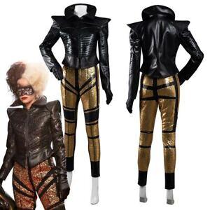 Cruella Cosplay Kostüme Mantel Outfits Halloween Karneval Suit