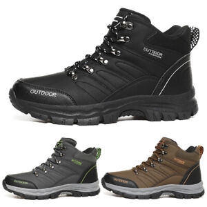 MENS HIKING SHOES THERMAL WALKING HIKING TRAIL WORK LACE UP TRAINERS BOOTS SHOES