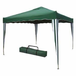 Gazebo pieghevole in metallo m 3x3 colore verde per giardino mare campeggio