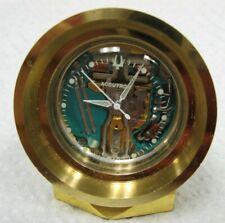 Bulova Accutron 214 Spaceview Brass Desk Mantel Clock Restored
