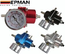 Regulateur de pression essence avec mano EPMAN de couleur NOIR TUNING RACING