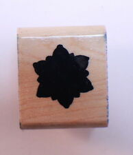 Close to my Heart Bold Silhouette Snowflake flower Wooden Rubber Stamp