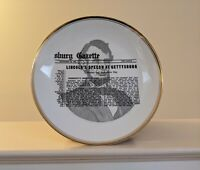 Collector Plate Lincoln's Speech at Gettysburg Historic Ware 22k Gold