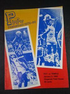 Vtg 1979-80 Pitt Basketball Official Program ~ Pitt vs. Temple Jan. 2 1980