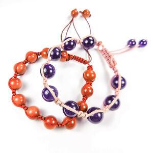Gemstone Bracelet Lot (Set of 2) Crystal Beaded Adjustable Band Collection CC8C