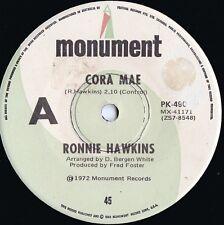 Ronnie Hawkins ORIG OZ 45 Cora Mae VG+ '72 Monumnet PK490 Rock N Roll