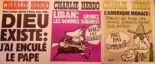 """Lot de 3 """"CHARLIE HEBDO"""" 11 mars 1976, 1er et 8 avril 1976   n°s 278-281-282"""