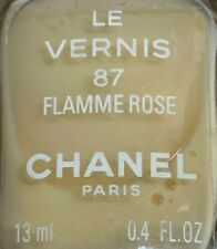 chanel nail polish 87 Flamme Rose rare limited edition VINTAGE