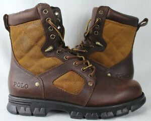 POLO Ralph Lauren Dennison Leather Boots Tan Brown NWT