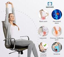 COCCYX ORTHOPEDIC SEAT Gel-enhanced Comfort Memory Foam Office Car Cushion