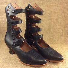 "American Duchess Black Leather ""Colette"" Boots Size 11 Excellent Condition"