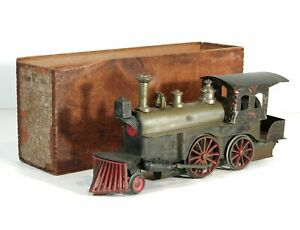 1871 LARGE BEGGS NO 1 LIVE STEAM ENGINE RAILROAD TRAIN LOCOMOTIVE 1 GAUGE IN BOX
