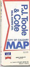 P.J. Toole & Cote Real Estate Street Map of Calgary Alberta Canada circa1962