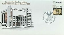 1980 FIRST DAY COVER ISSUE FDC - 'OPENING OF THE HIGH COURT BUILDING CANBERRA'