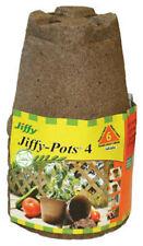 "Jiffy Jp406 Biodegradable Round Peat Pot, 4"", 6-Pack"