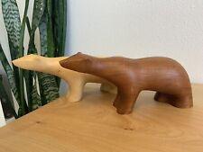 PAIR Vintage Mid Century Modern Norwegian Arne Tjomsland Style Danish Teak Bears