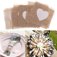 10/50/100pcs Hessian Burlap Placemats Rustic Wedding Birthday Party Table Decor