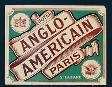 Kofferaufkleber Hotel Anglo-Americain Paris   (V15)