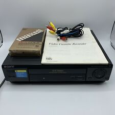 New ListingSony Slv-678Hf Vhs Vcr Player Recorder + Tape and Cables - Tested - *No Remote*