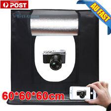 """Portable Mini LED Light Tent Photo Studio Lighting Cube Soft Box 2 Backdrops 24"""""""