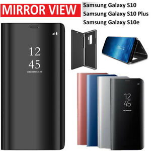 Case Flip Smart Case for Samsung Galaxy S10 S10e S10Plus Clear View Mirror Cover
