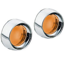 Kuryakyn Deep Dish Turn Signal Bezels With Lenses Chrome Amber Honda/Kawasaki