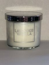 NEW~Bath Body Works~LAVENDAR VANILLA 4oz Candle-Lavender/Vanilla/Cedarwood/Citru