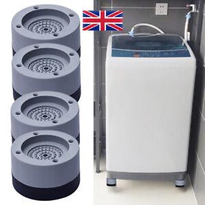 4x Anti-Vibration Pads Noise-reducing Anti-slip Washing Machine Feet No-slip Mat