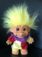 Russ Berrie & Co 8� Clown Troll Doll Plastic Removable suit