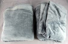 """2x MainStays Plush Blanket Bed Spread Twin Grey 66x90"""" 100% Polyester OOP"""
