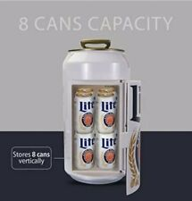 Miller Lite Can Mini Fridge 059586648014 Can Cooler, Car or Boat Collectible