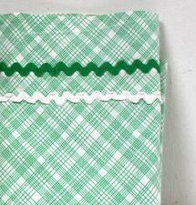 Parure bébé vintage carreaux verts