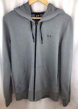 Oakley Men's Sz Medium Gray Full Zip Fleece Hoodie Jacket