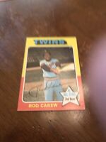 1975 Topps Mini Rod Carew Minnesota Twins #600 Baseball Card