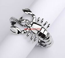 Bracelet Chain Men's Hip-Hop Biker Silver New Year Gift Stainless Steel Scorpion