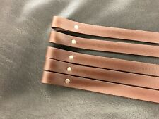"""10 Brown, Plain PVC browbands 3/4"""" for covering with ribbon, all sizes"""