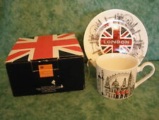 "JAMES SADLER~FINE CHINA~CUP & SAUCER SET~""CHANGING OF THE GUARDS""~NEW~ENGLAND/UK"