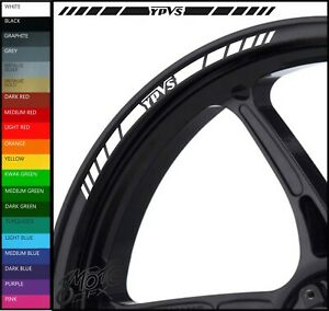 8 x YAMAHA YPVS Wheel Rim Decals Stickers - 20 colours available - RD350 f2 31k