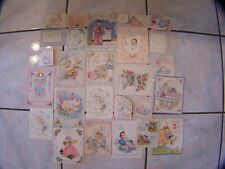 Vtg 1945 Baby Announcements & Birthday Used Cards