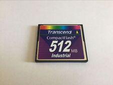 transcend 512mb industrial  compactflash CF memory card