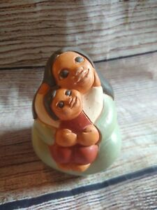 Chile Terra Cotta Clay Pottery South American Folk Mother Child Baby Folk Art