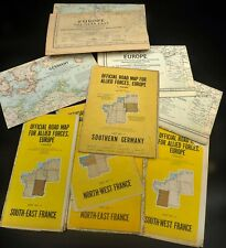 1950's Official Road Maps for Allied Forces in Europe - Nice Collection
