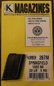 Springfield 1922 M1 .22LR 5 Round RD Blued Steel Magazine/Mag Triple K 267M