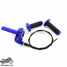 Aluminum CNC Twist Throttle Grips Cable For Yamaha TTR 110 125 YZ 250 Dirt Bike