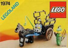 LEGO SMUGGLER'S HAYRIDE 1974-3 Set Castle Forestmen 2 minifigs w/ black plume