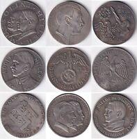 №5 Exonumia set of 9 token Germany. third Reich. Adolf Hitler.