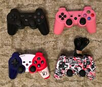 Lot 4 manettes sony PS3 Playstation HS Non officielles type Dualshock 3