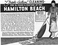 1935 small Print Ad of Hamilton Beach Model No 10 Vacuum Cleaner